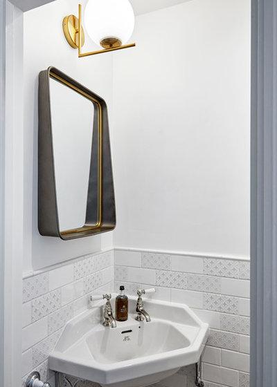 Transitional Bathroom by Hampstead Design Hub