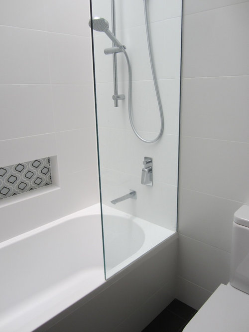Small Modern Tub Shower Combo Design Ideas Remodels Photos