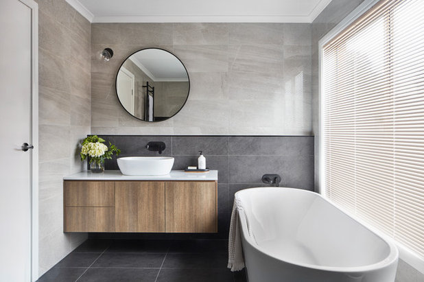 Contemporary Bathroom by Mink Homes Pty Ltd