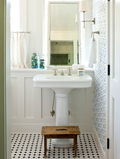 tile behind pedestal sink houzz pedestal sink bathroom ideas bathroom sink design ideas