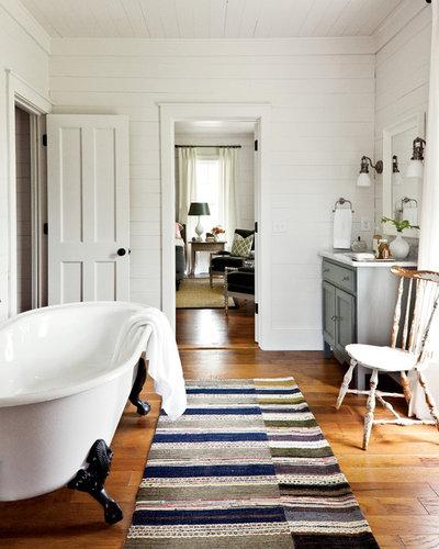 12 id es d co pour une jolie salle de bains campagne - Salle de bain style campagne ...