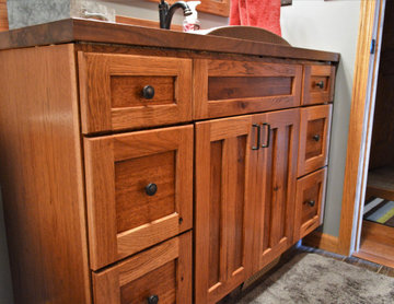 Rensselaer, IN. Haas Signature Collection. Rustic Hickory Kitchen