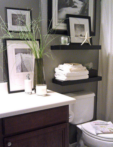 Shelving above toilet home design ideas pictures remodel for 3 piece bathroom ideas