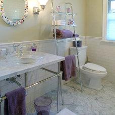 Eclectic Bathroom by Martha Kerr/MCKD, CMKBD, CR/Neil Kelly Company