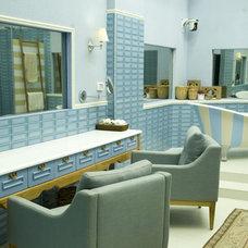 Eclectic Bathroom by revital indik