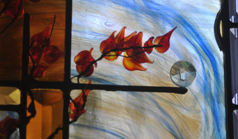 Residence - Contemporary Art Glass Bathroom Window