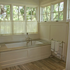 Eclectic Bathroom by Johnson & Associates Architects