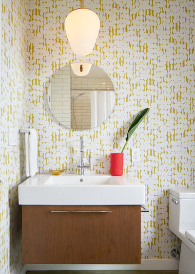 Fabulous Midcentury Bathroom by Alison Damonte Design