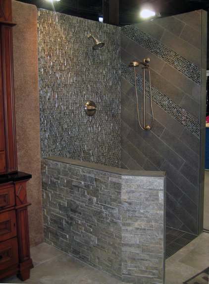 contemporary bathroom by Artcraft Granite, Marble & Tile Co.