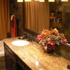 mediterranean bathroom by Artcraft Granite, Marble & Tile Co.
