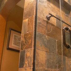 Mediterranean Bathroom by Artcraft Granite, Marble & Tile Co.