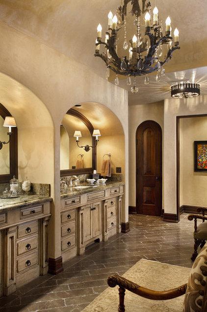 Mediterranean Bathroom by Logan Street Fine Wood Products