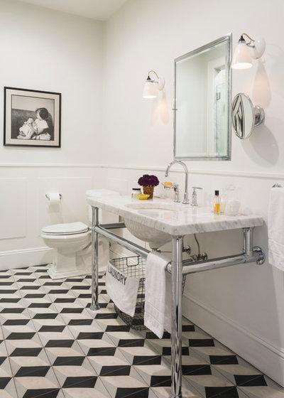 American Traditional Bathroom by Steven M. Yang Architect, LLC