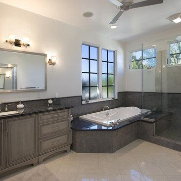 ... Nickel Bathroom Design Ideas, Remodels & Photos with Gray Cabinets