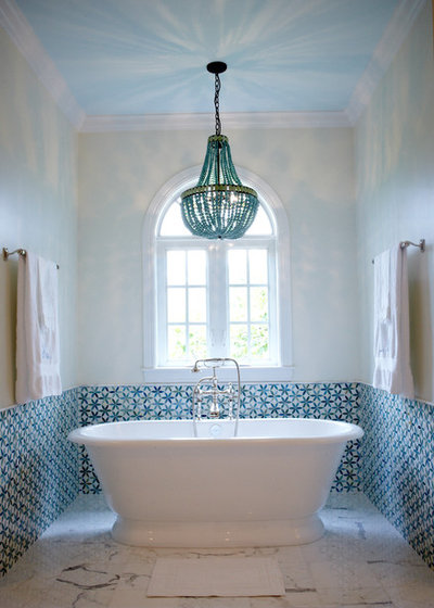 Mediterranean Bathroom by Alisa Block Architect + Design