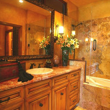 Mediterranean Bathroom by Linda Medina Interior Design