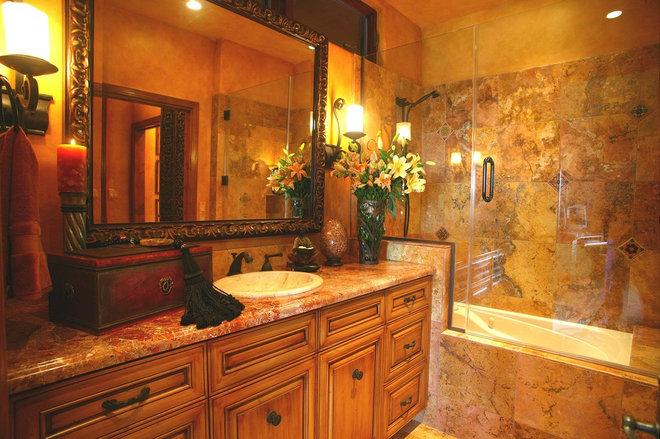 Mediterranean Bathroom by Linda Medina Interior Design