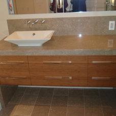 Contemporary Bathroom by Marble Emporium Inc