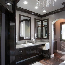 Transitional Bathroom by Mullet Cabinet