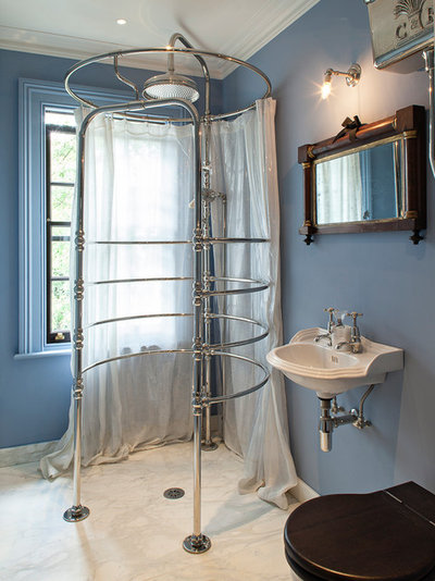 British Colonial Bathroom by Russell Taylor Architects