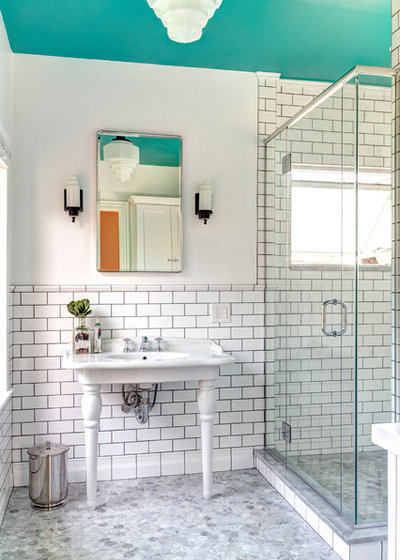 Victorian Bathroom by Dave Fox Design Build Remodelers