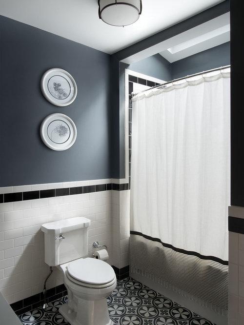 Salles de bains et wc avec un plan de toilette en quartz for Salle de bain avec wc separe