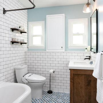 Revived Vintage Guest Bath