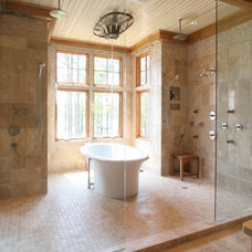 Transitional Bathroom by Norwood Architects