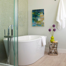 Beach Style Bathroom by Rachel Reider Interiors
