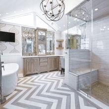 Master bath, shower