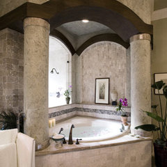 mediterranean bathroom by Richens Designs, Inc.