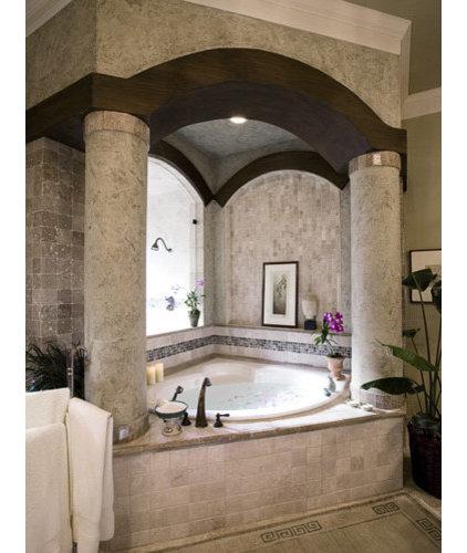 Mediterranean Bathroom by Richens Designs, Inc.