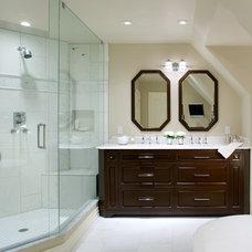 Traditional Bathroom by kathy daukant interior design