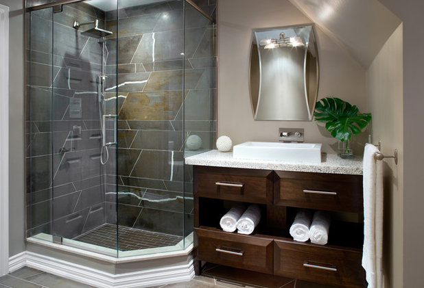 Modern Bathroom by Kathy Daukant Interiors