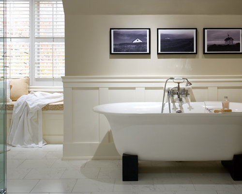 Interesting Bathroom With Wainscoting To Ideas