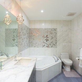 Metallic Tile Bathroom Ideas Houzz - Metallic bathroom tiles