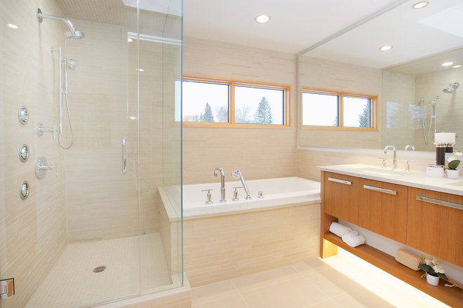 Contemporary Bathroom by Homes by Avi