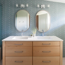 Transitional Bathroom by Kitch Cabinetry and Design