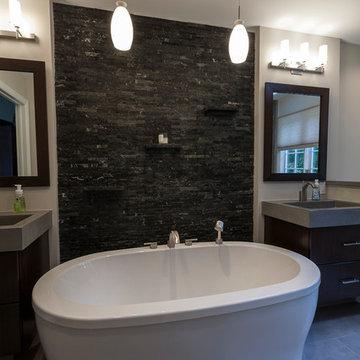 Ridgefield Contemporary Master Bath