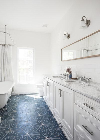 Farmhouse Bathroom by Arbib Hughey Design
