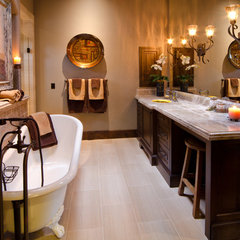 mediterranean bathroom by Copperline Homes