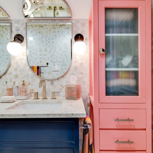 This is an example of an eclectic family bathroom in Austin.