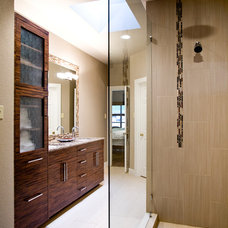 Contemporary Bathroom by Allison Jaffe Interior Design LLC