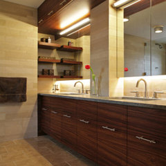 modern bathroom by Rodriguez Studio Architecture PC