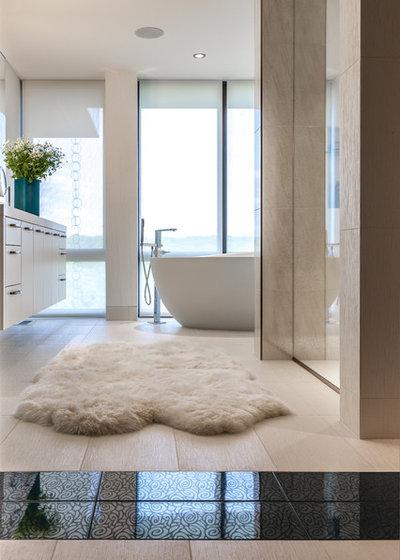 10 jolis tapis pour sublimer votre salle de bains - Tapis laine contemporain solde ...