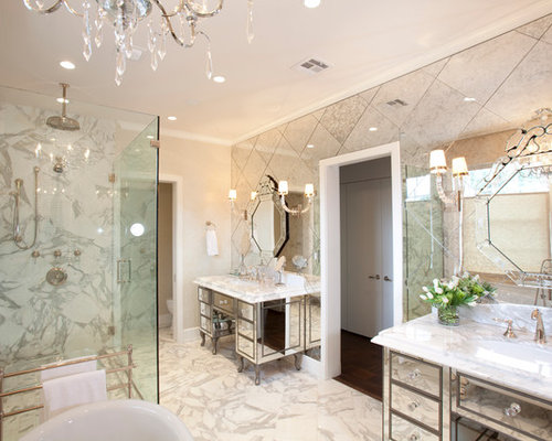 Mirror Tile Wall | Houzz