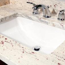 Modern Bathroom River White Granite Vanity