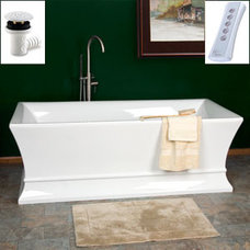 Traditional Bathroom Riveria Freestanding Acrylic Air Bath Tub