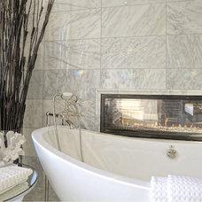 Transitional Bathroom by Sanaz Designs Inc