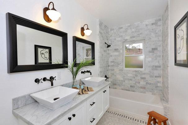 Transitional Bathroom by Kenihan Development